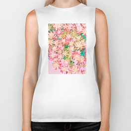 Cactus Fall - Pink and Green Biker Tank