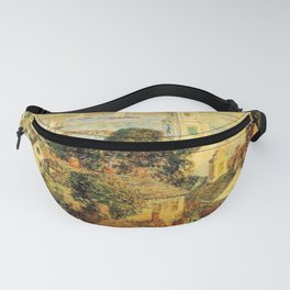 Classical Masterpiece 'Provincetown' by Frederick Childe Hassam Fanny Pack