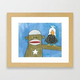 Sock Monkey 301 Framed Art Print