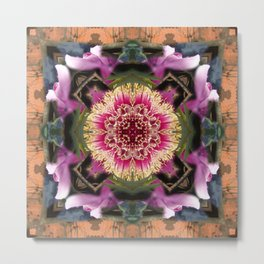 Flower Kaleidoscope 2 Metal Print