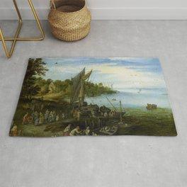 "Jan Brueghel the Elder ""River Bank"" Rug"