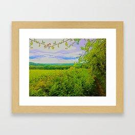 Parbold Hill (Digital Art) Framed Art Print
