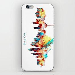 Kansas City Skyline Silhouette iPhone Skin