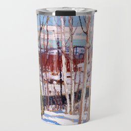Tom Thomson - Open Water, Joe Creek - Canada, Canadian Oil Painting - Group of Seven Travel Mug