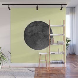 BLACK MOON + CANARY YELLOW SKY Wall Mural