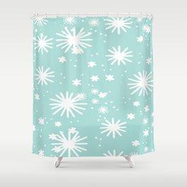 Pale Blue Snowflake Art Shower Curtain