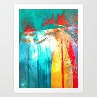 surfing Art Prints featuring Surfing by Fernando Vieira
