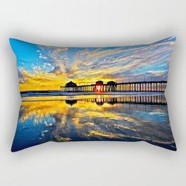 Sunset ~ Huntington Beach Pier CA  11/7/13 Rectangular Pillow