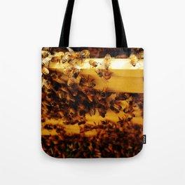 Golden Honeybees Tote Bag