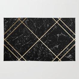 Gold & Black Marble 02 Rug