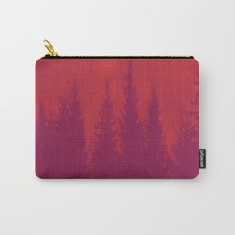 Purple Forest On Red Background #decor #society6 Carry-All Pouch