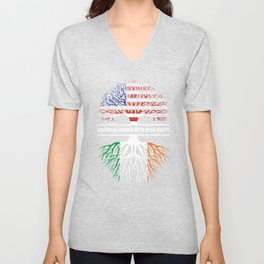 American grown with Irish roots Unisex V-Neck