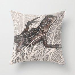 Dragon refuge Throw Pillow