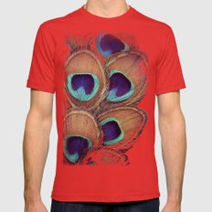 Peacock Mens Fitted Tee Red LARGE