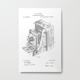 Vintage Camera Patent Metal Print
