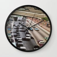 cars Wall Clocks featuring cars by danielrcart