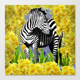 ZEBRA YELLOW ORCHIDS TROPICAL BLOOM Canvas Print