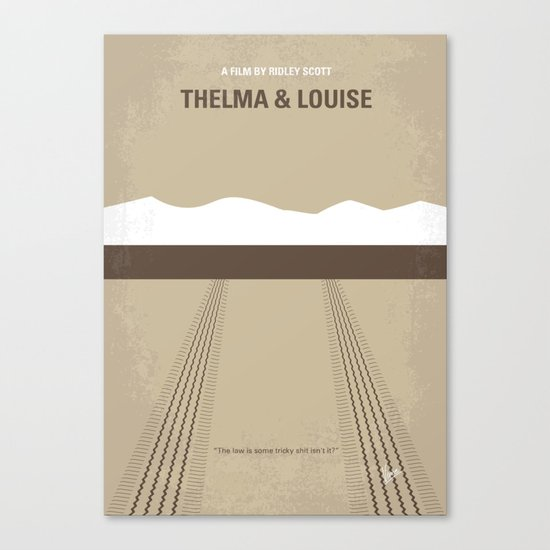No189 My Thelma and Louise minimal movie poster Canvas Print