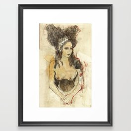 Hommage à Beardsley XIV Framed Art Print