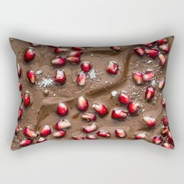 Chocolate Pomegranate Rectangular Pillow