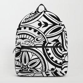 Flower circle pattern Backpack