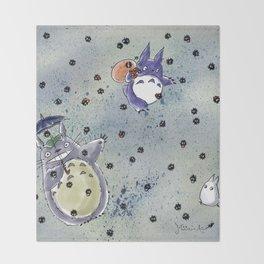 Totoro&Chibi Throw Blanket