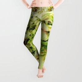 Green Flowers Leggings