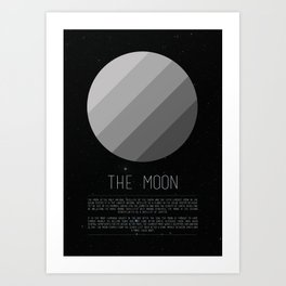 Galaxy Cake - The Moon Art Print