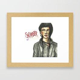Salander Framed Art Print