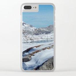 Daubensee above Leukerbad, Valais, Swiss Alps I Clear iPhone Case