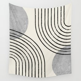 Sun Arch Double - Grey Wall Tapestry