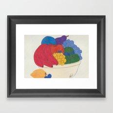 Beyond Color #1 - Bowl of Fruit Framed Art Print