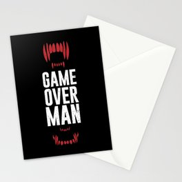 Game Over Man Stationery Cards