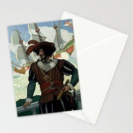 """""""Pirate"""" Book Cover by NC Wyeth Stationery Cards"""