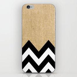 BURLAP BLOCK CHEVRON iPhone Skin