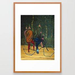 Family Outing Framed Art Print