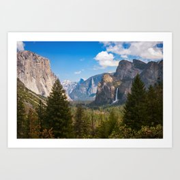 Bridalveil Fall Landscape, Yosemite Art Print