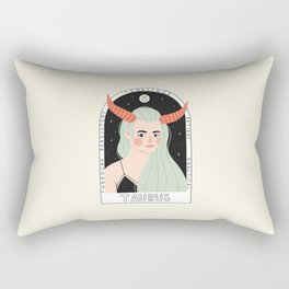 Taurus Zodiac Goddess Rectangular Pillow