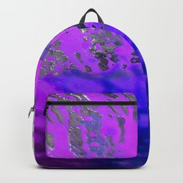 Pink and Blue Spray Pattern Backpack