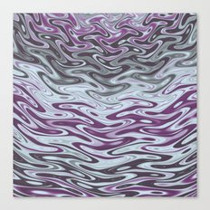 Ripples Fractal in Muted Plums Canvas Print