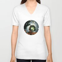 portal V-neck T-shirts featuring Portal by Peter Campbell