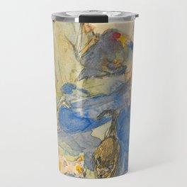 """Théophile Steinlen  """"Autoportrait aux chats"""" Travel Mug"""