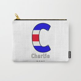 Charlie - C - Navy Alphabet Carry-All Pouch