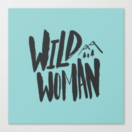Wild Woman x Blue Canvas Print