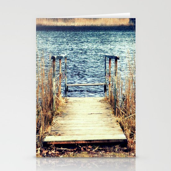 blue water Stationery Cards