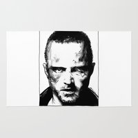 jesse pinkman Area & Throw Rugs featuring Breaking Bad - Jesse Pinkman by Aaron Campbell