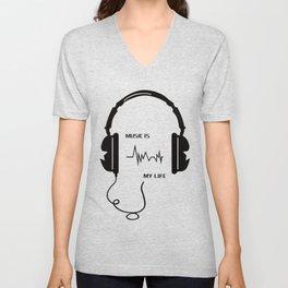 Music is my life Unisex V-Neck