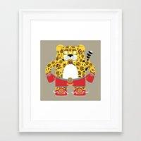 jaguar Framed Art Prints featuring Jaguar by EinarOux