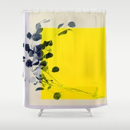 grayellow_mood Shower Curtain
