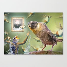 Illegal Bird Meeting Canvas Print